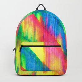 Glowing Neon Abstract Painting V2 Backpack