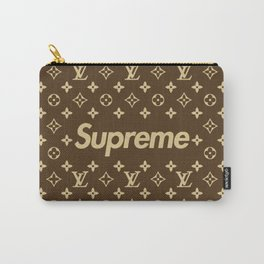 Supreme LV Gold Carry-All Pouch