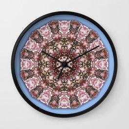 Floral mandala-style, Pink blossoms Wall Clock