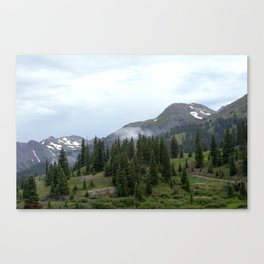 Road to Black Bear Pass, elevation 12,840 feet Canvas Print