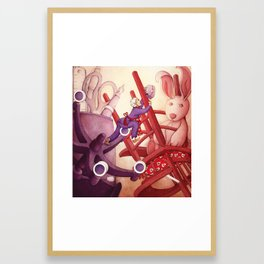 A Precarious Balance between Career and Family Framed Art Print