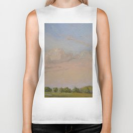 Sunset Painting Biker Tank