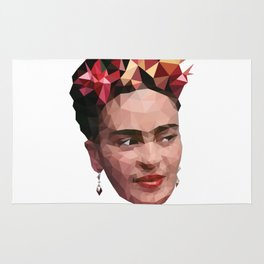 Frida in low poly Rug