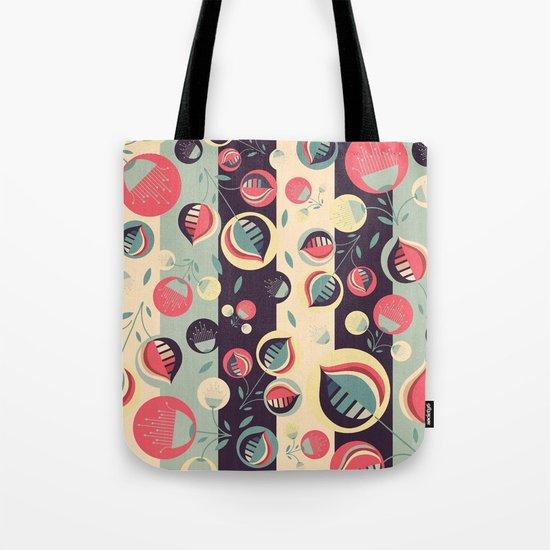 50's floral pattern II Tote Bag
