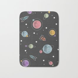 retro space pattern Bath Mat