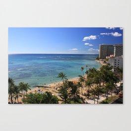 Waikiki Hawaii Canvas Print