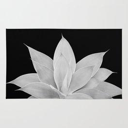 Gray Agave on Black #2 #tropical #decor #art #society6 Rug