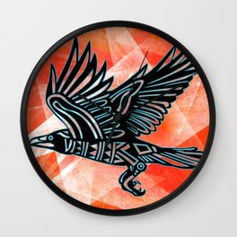The Crow Wall Clock