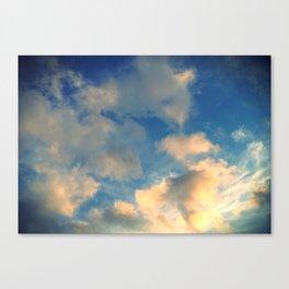 golden cloud. Canvas Print