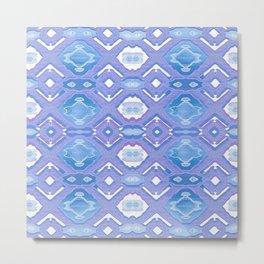 Lavender Geometric Texture Metal Print