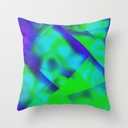 Green Color Package Throw Pillow