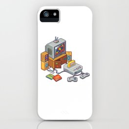 Retro gaming console iPhone Case