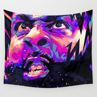 nba Wall Tapestries featuring JAMES HARDEN: NBA ILLUSTRATION V2 by mergedvisible