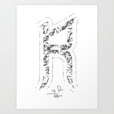 R - is for Rare - white version Art Print