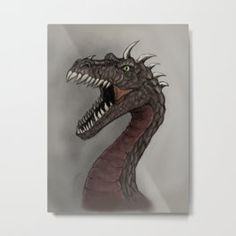 Big brown dragon Metal Print