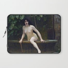 TRUTH COMING OUT OF HER WELL TO SHAME MANKIND - JEAN-LEON GEROME Laptop Sleeve
