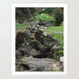 Stone river Art Print