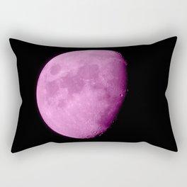 4K Dark Side of the Moon Fuchsia Rectangular Pillow