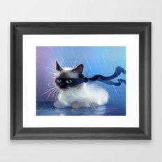 Fancy Ninja Cat Framed Art Print