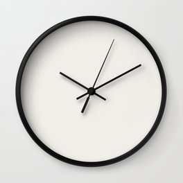 Off White Solid Color Pantone Cloud Dancer 11-4201 Accent to Color of the Year 2021 Wall Clock