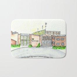 Saint Xavier High School, Louisville, KY. Watercolor Bath Mat