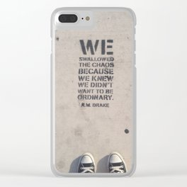 Heavy Steps Clear iPhone Case