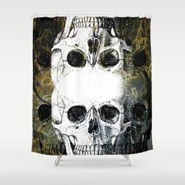 Skull Graffiti 1.0 Shower Curtain