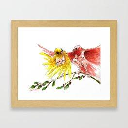 Canary Harpies Framed Art Print