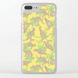 crazy kangaroos Clear iPhone Case