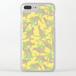 crazy kangaroos Clear iPhone Case
