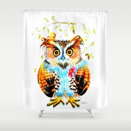 The most beautiful Owl Shower Curtain