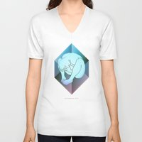prism V-neck T-shirts featuring despair ~ prism by datamouth