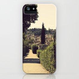 Boboli Gardens iPhone Case
