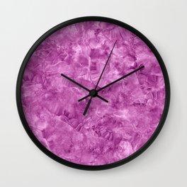 Purple onyx marble Wall Clock