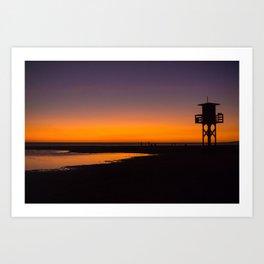Tarifa sunset Art Print