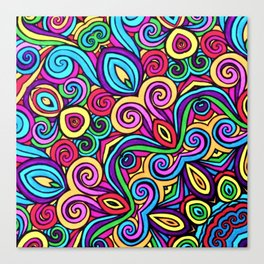 Saratoga Rainbow Swirls Absract Canvas Print
