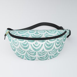 Watercolor Mermaid Turquoise Fanny Pack