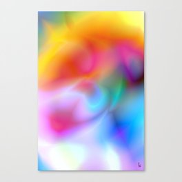 Rainbow Vortex Canvas Print