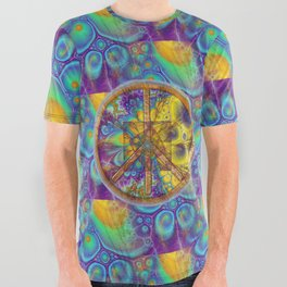 Hippy 1 Psychedelic All Over Graphic Tee