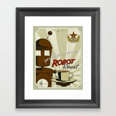 Robot Roast Framed Art Print