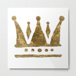 Golden Crown Metal Print