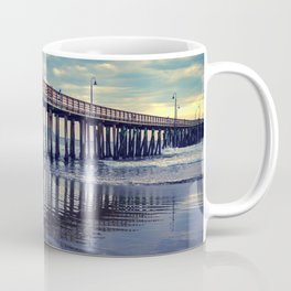 Just Wandering along the beach at Cayucos Pier Coffee Mug