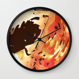Rose Gold Wave Wall Clock