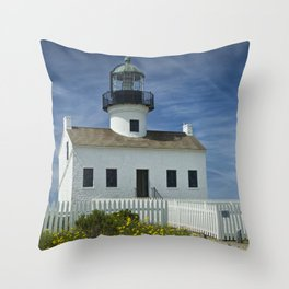 Cabrillo National Monument Lighthouse Throw Pillow