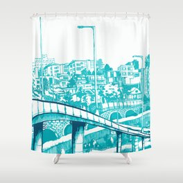 Han River Seoul Shower Curtain