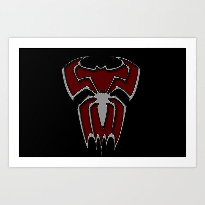 Bat-Spiderman Art Print