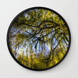 The Pond Trees Wall Clock