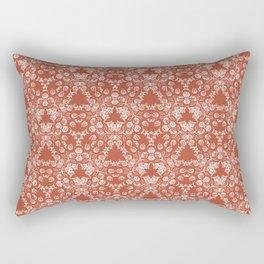 Antique Lace in Burnt Orange Rectangular Pillow