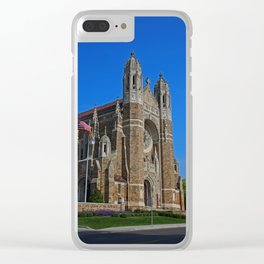 Old West End Our Lady Queen of the Most Holy Rosary Cathedral II- vertical Clear iPhone Case