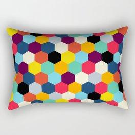 Mid Century French Tiles | Retro Bohemian Pattern Rectangular Pillow